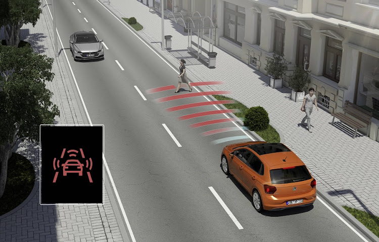 The new Polo gets access to all the MQB safety systems including pedestrian detection. Picture: VOLKSWAGEN