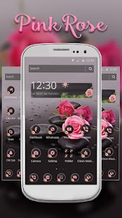 Launcher Pink Rose - náhled