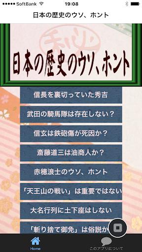 日本の歴史のウソ ホント