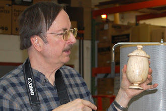 Photo: ... he put a pedestal base on it and made it an urn.