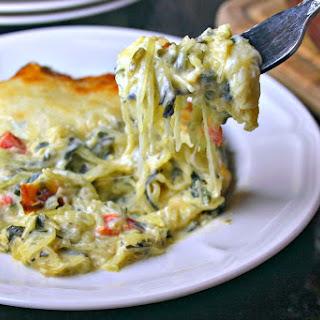 Creamy Spinach & Spaghetti Squash Bake