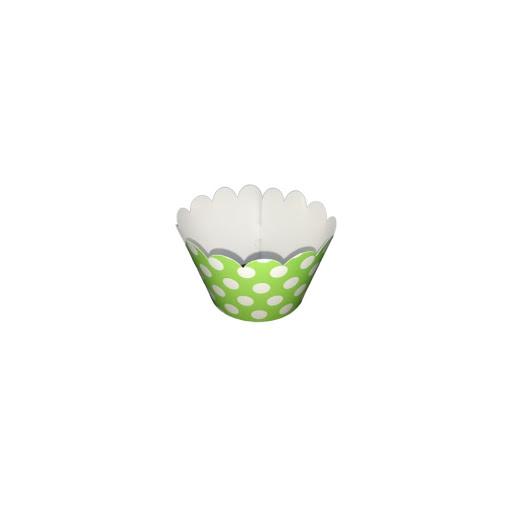 Cup Cake Altolitho Verde Estampados Circulos/Rayas 25und