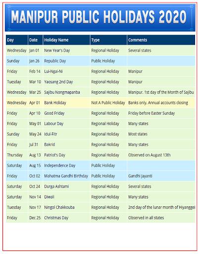 Manipuri Calendar 2020 1.3 screenshots 5