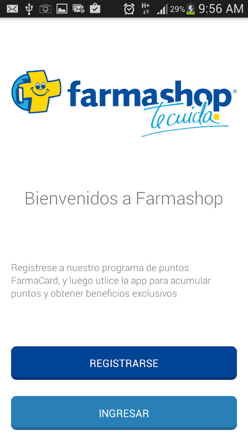 Farmacard: captura de pantalla