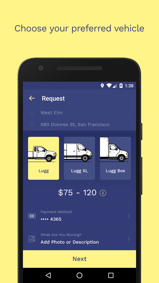 Lugg – Your On-Demand Mover- screenshot
