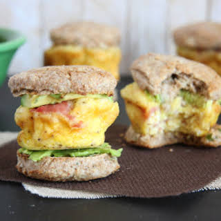 Mini Egg and Whole Wheat Biscuit Sandwiches.