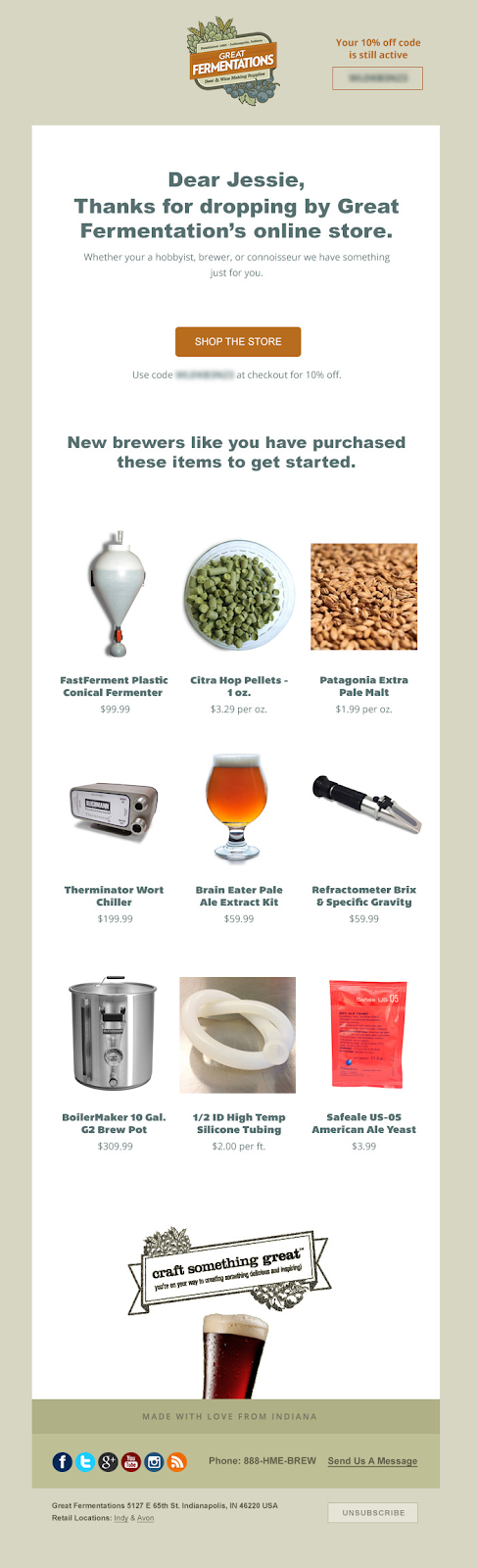 promoted relevant products - great fermentations email
