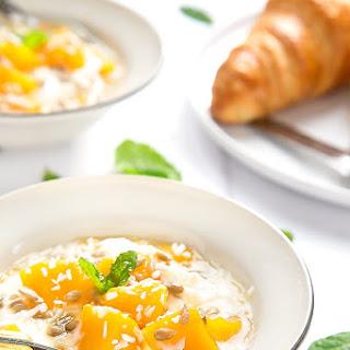 Yogurt And Mango Breakfast Bowls.