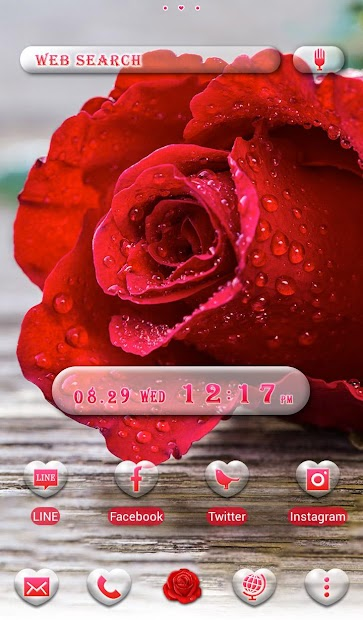 Beautiful Wallpaper Rose Drops Theme Android App Screenshot