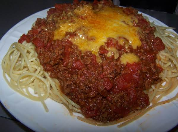 Gail's Easy Spaghetti And Meat Sauce