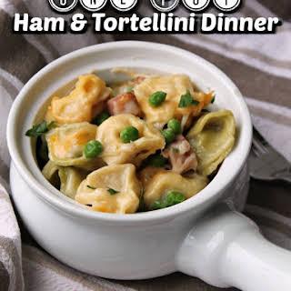 Leftover Ham and Tortellini Skillet Meal.
