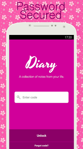 Diary with lock screenshot 1