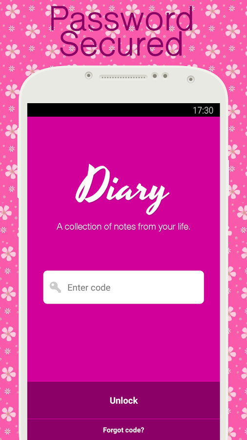 Diary with lock- screenshot