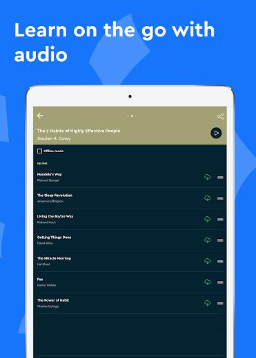 Screenshot 13 for Blinkist's Android app'