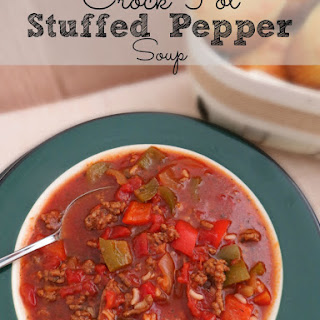 Crock Pot Stuffed Pepper Soup