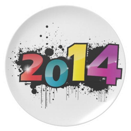 Año Nuevo 2014 graffitti