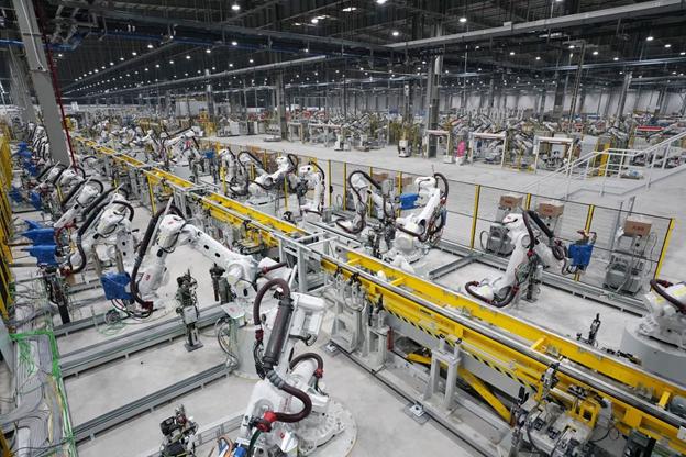 Dây chuyền sản xuất theo hướng tự động hóa