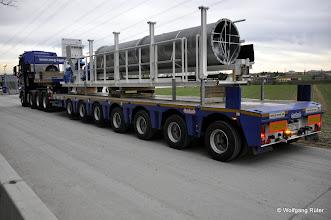 Photo: Anlieferung von TBM-Komponenten zur Fildertunnel-Baustelle