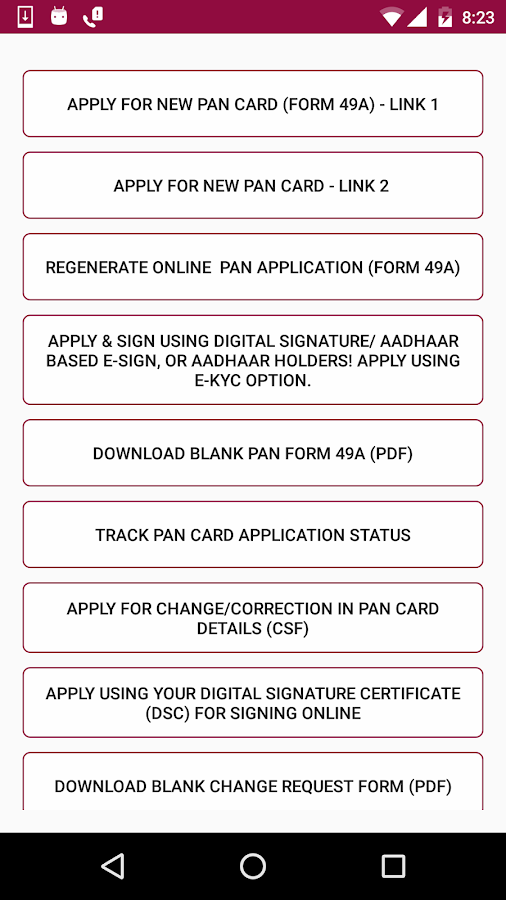 Pan Card All Online Services Android Apps On Google Play