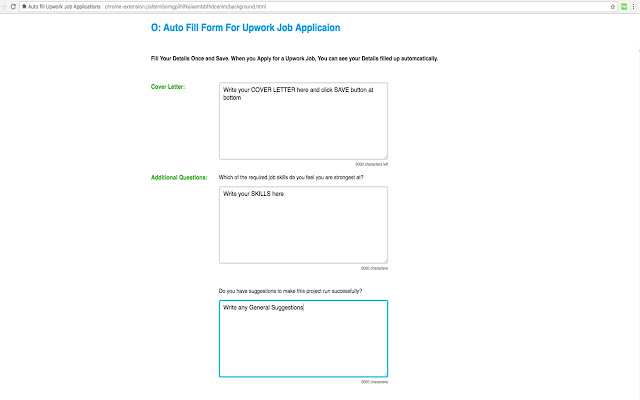 Auto Fill Upwork Job Applications - Chrome Web Store