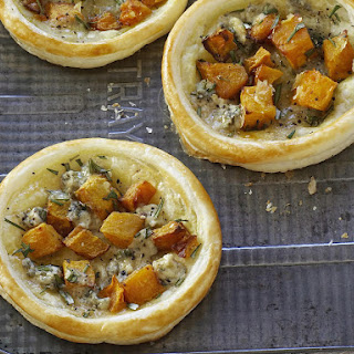 Roast Squash and Blue Cheese Tarts