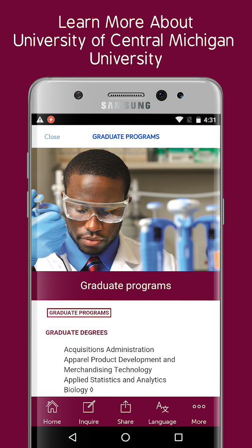 Central Michigan University- screenshot