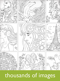colorfy coloring book for adults free screenshot thumbnail
