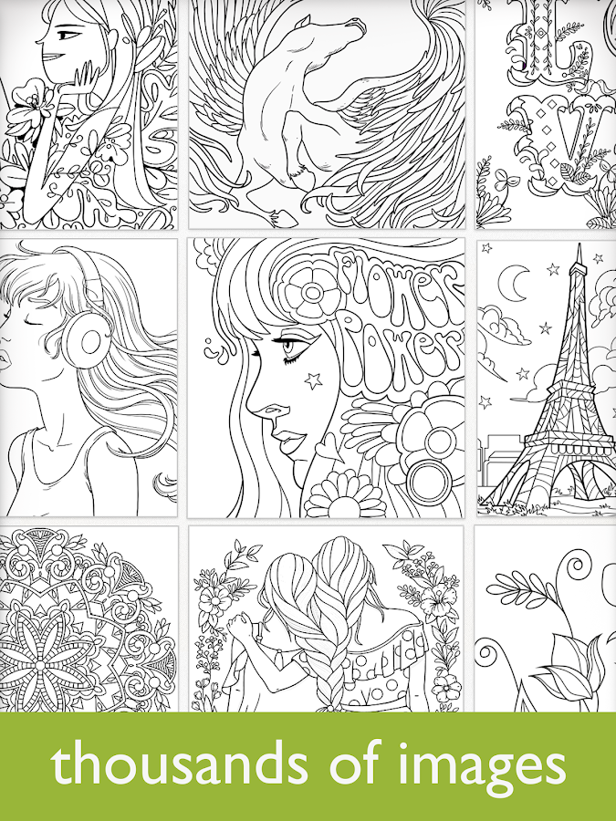 Online Colouring Pages For 7 Year Olds : Colorfy: coloring book for adults free android apps on google play