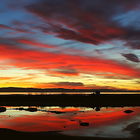 Sunsets of beautiful reflections  by Ken Hall - Landscapes Cloud Formations ( ken,  )