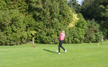 Photo: Millie teeing off the 1st