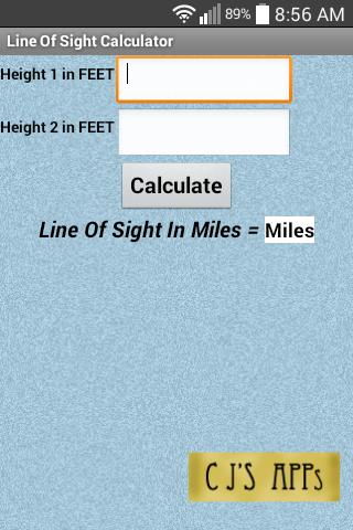 Line Of Sight Calculator