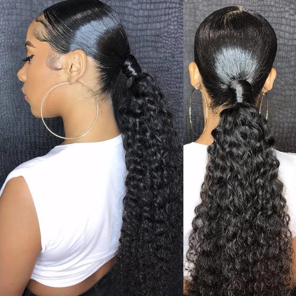 Low weave ponytail