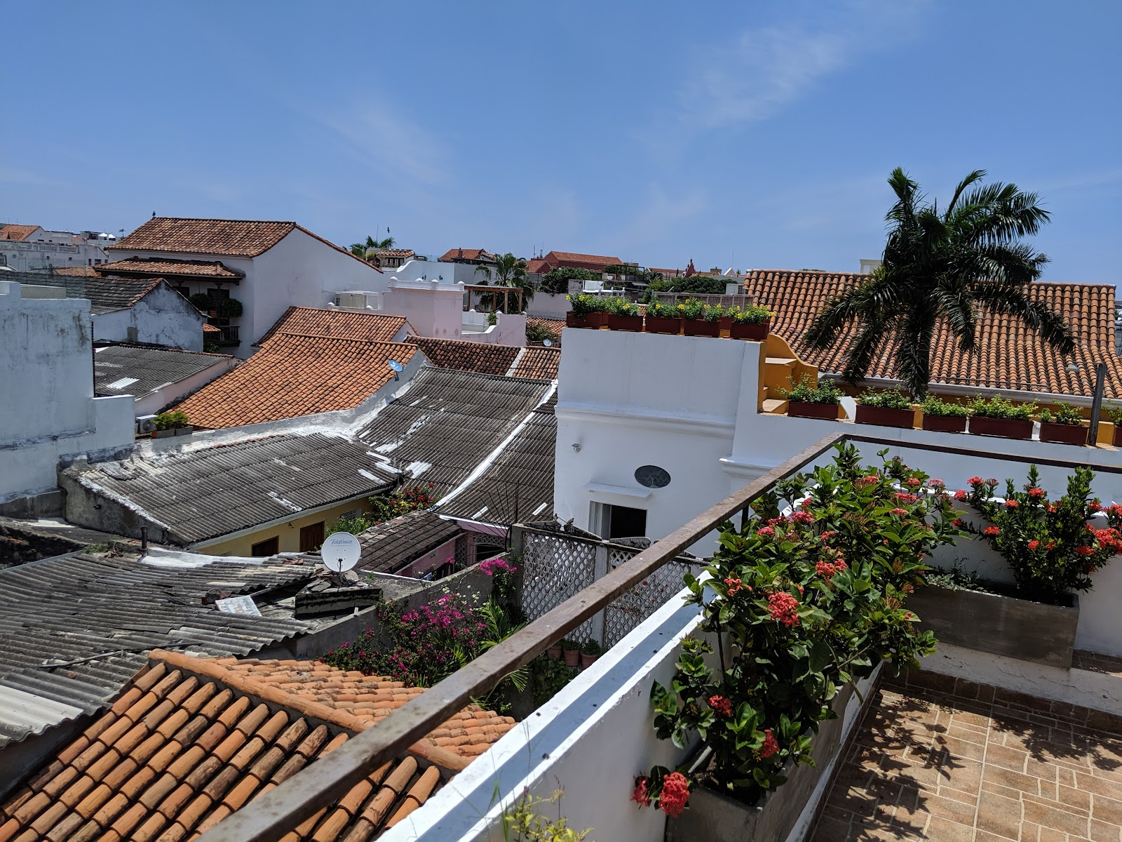 Rooftop at Maloka Boutique Hotel in Cartagena, Colombia.