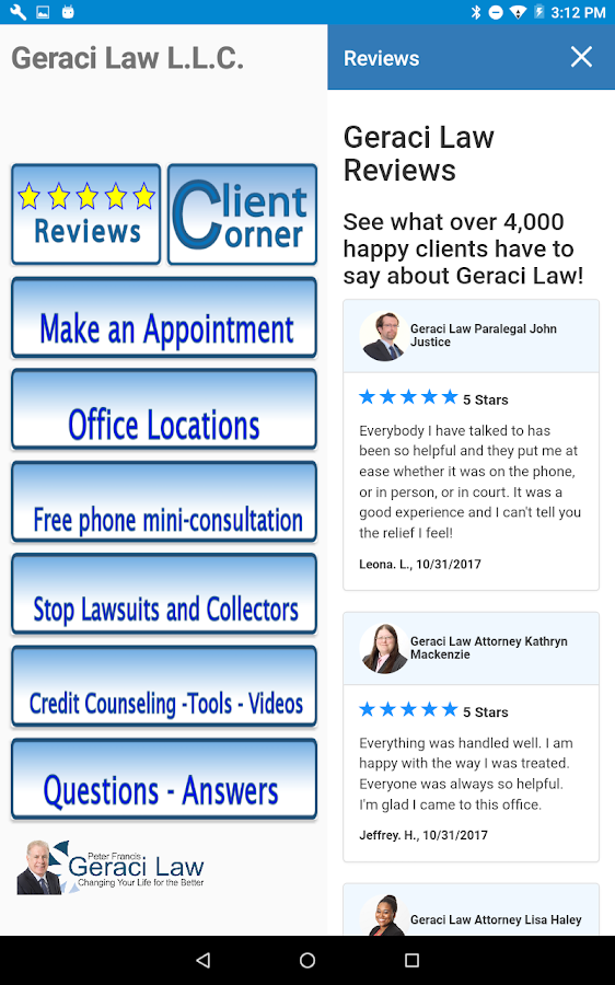 Geraci Law- screenshot