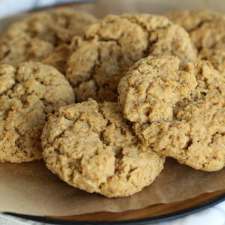 Hearty Peanut Butter Cookies with Oats and Bran.