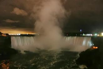 Photo: The falls at night.