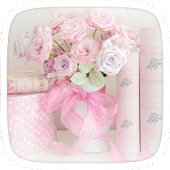Pink Roses Flower Theme