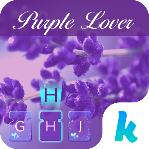 Purple Love Emoji Keyboard Icon