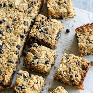 Chewy Granola Bars with Almonds and Wild Blueberries.