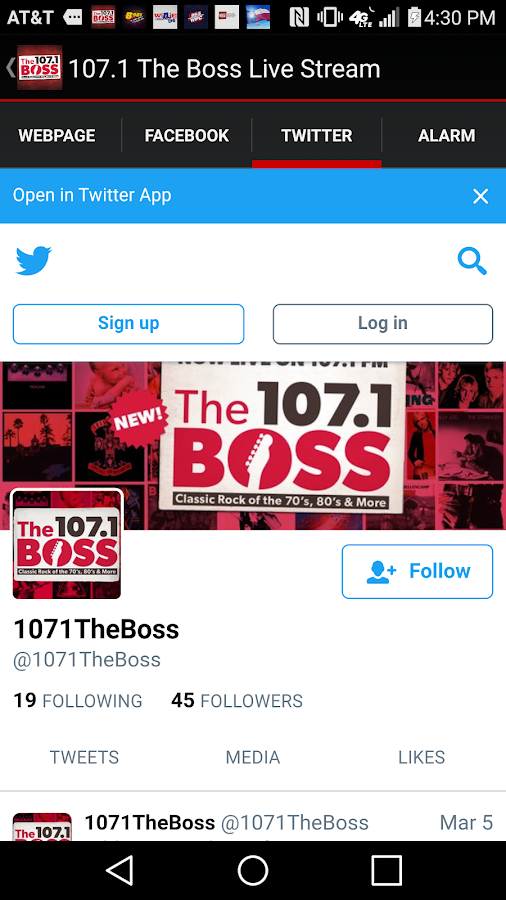 107.1 The Boss Live Stream- screenshot