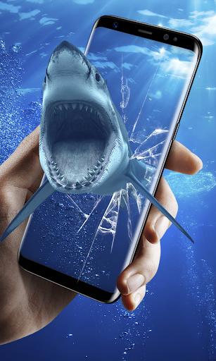 3d shark in the ocean live wallpaper screenshot 3