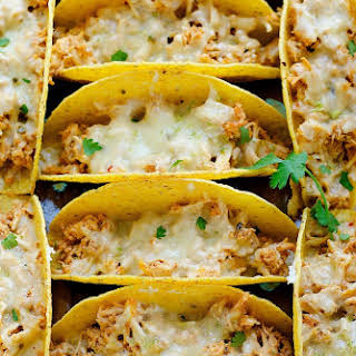 Oven Baked Honey Lime Chicken Tacos.