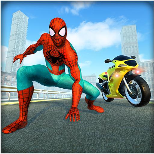 Spiderhero Rider Road Survival