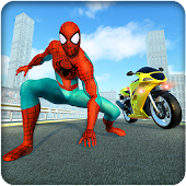 Spiderhero Rider Road Survival