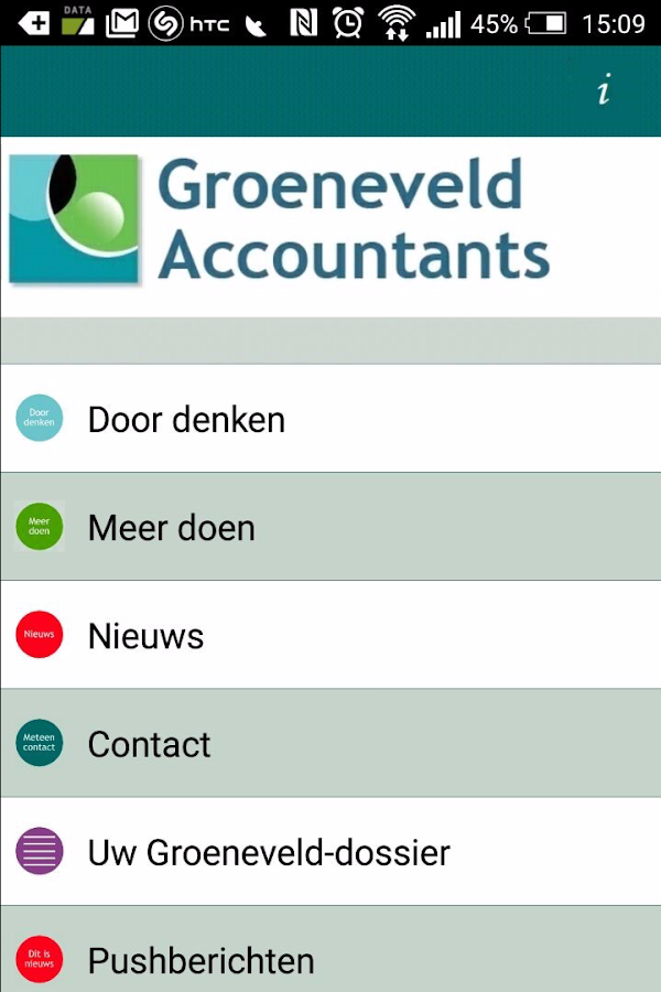 Groeneveld Accountants- screenshot