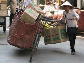 Photo: Getting Chinese goods over the borders to Vietnam :)