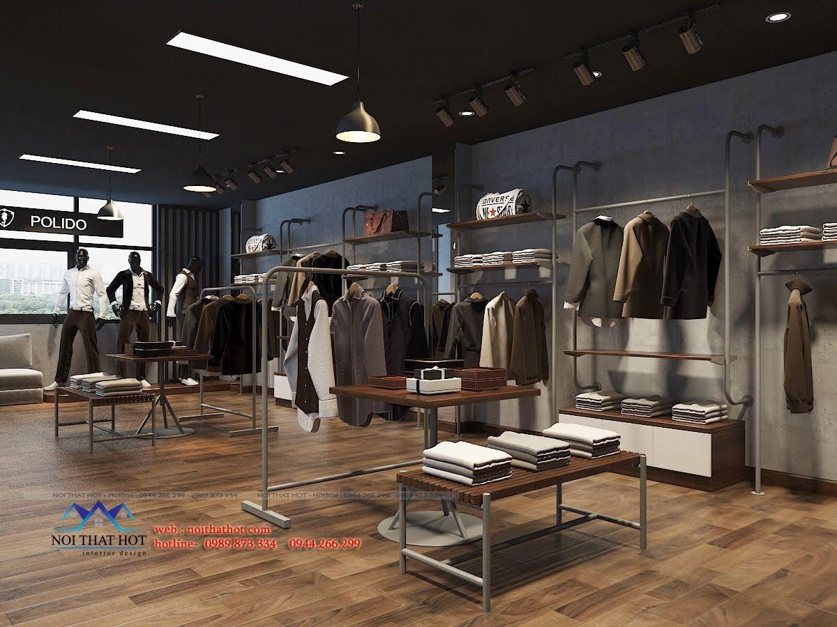 thiết kế shop thời trang nam polido 8
