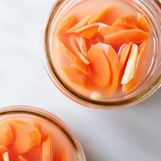 Hugh Acheson's Fermented Carrots with Galangal and Lime.