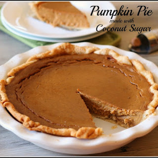 Pumpkin Pie made with Coconut Sugar