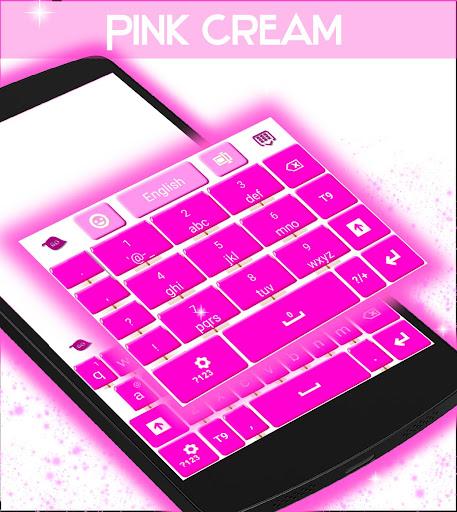 玩免費個人化APP|下載粉红冰淇淋键盘 app不用錢|硬是要APP